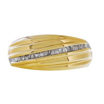 Diamond Baguette & Gold Ring