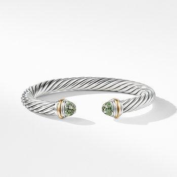 Bracelet with Prasiolite and 14K Gold