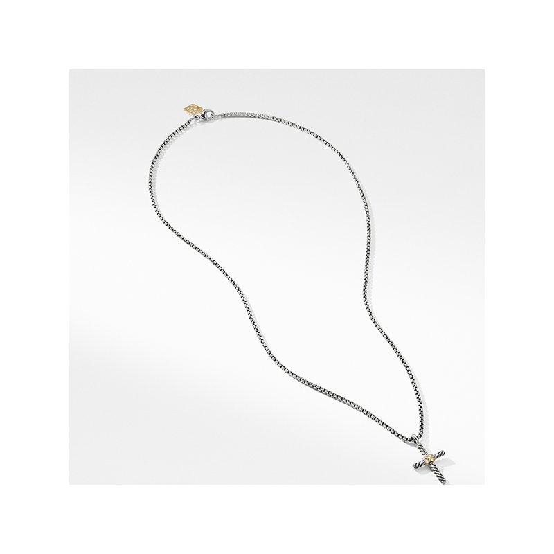 David Yurman Cross Necklace with 14K Gold