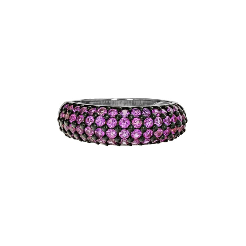 Estate Radcliffe Four Row Pink Sapphire Ring