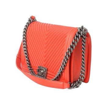Orange Chevron Boy Bag