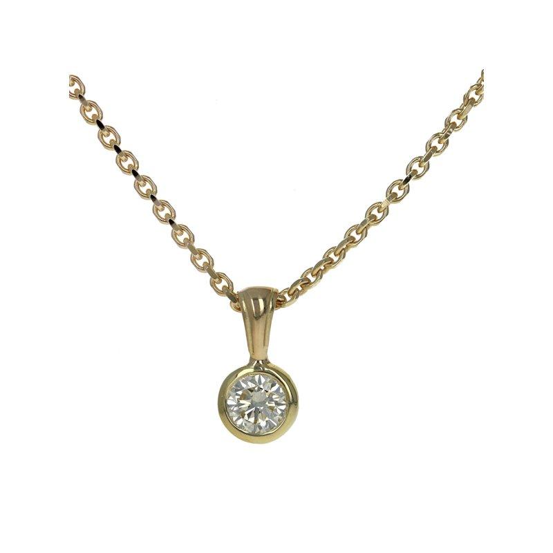 Estate Roberto Coin Solitaire Diamond Pendant