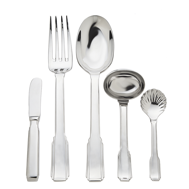 Ricci Argentieri Art Deco 5 Piece Hostess Set