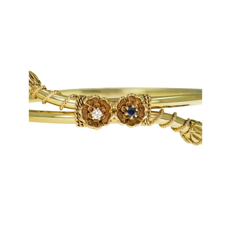 Estate Radcliffe Victorian Style Bypass Bracelet