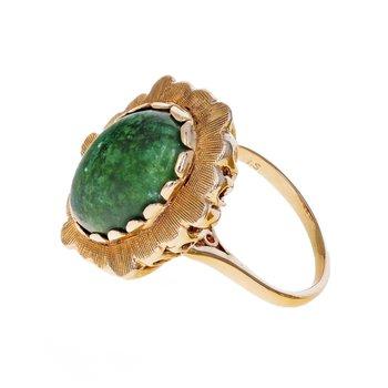 Bezel Set Jade Ring