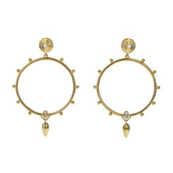 Circle Anfora Diamond Earrings