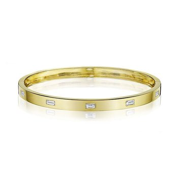 Emerald-Cut Station Moderne Bangle