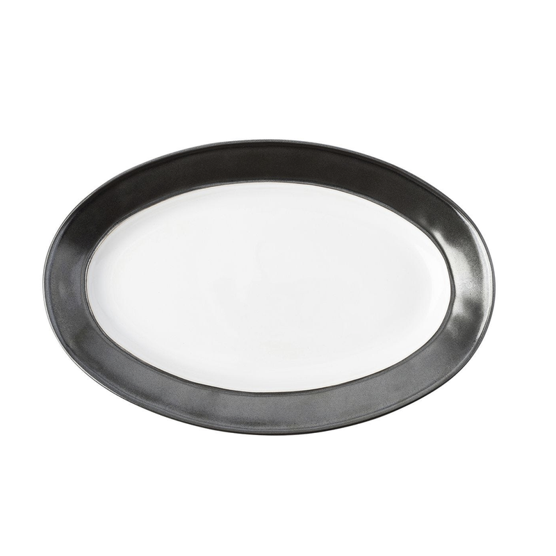 Juliska Emerson White & Pewter Oval Platter