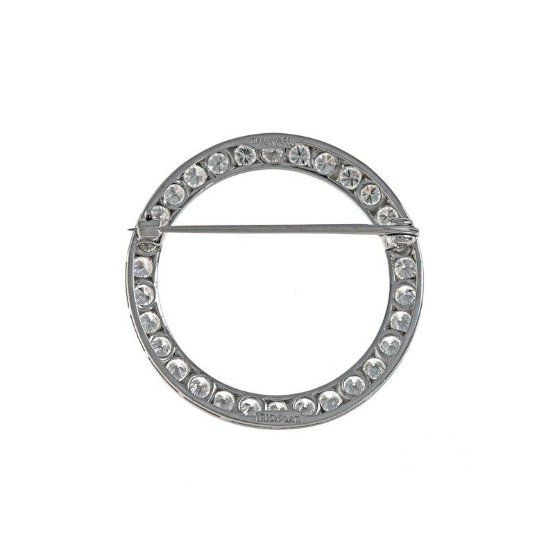 Estate Tiffany & Co. Diamond Circle Brooch