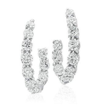 New Moon Diamond Hoop Earrings
