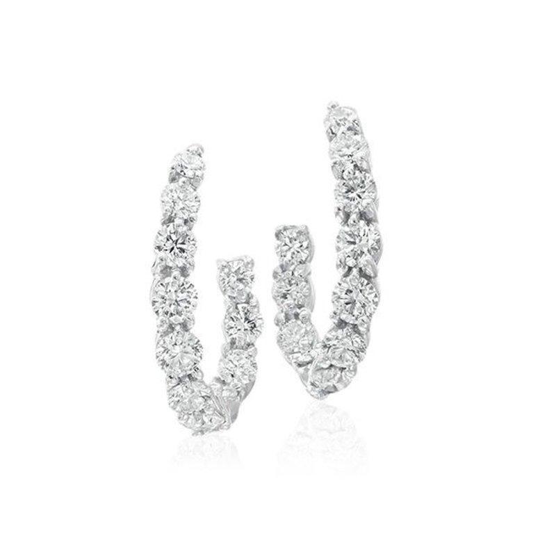 Gumuchian New Moon Diamond Hoop Earrings