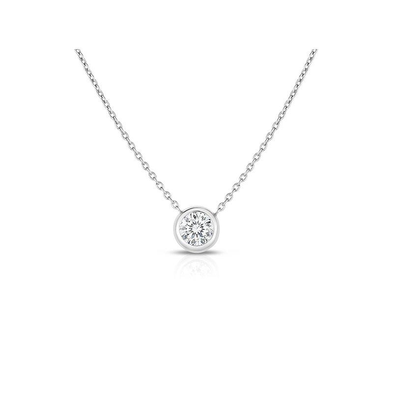 Roberto Coin Bezel Diamond Pendant