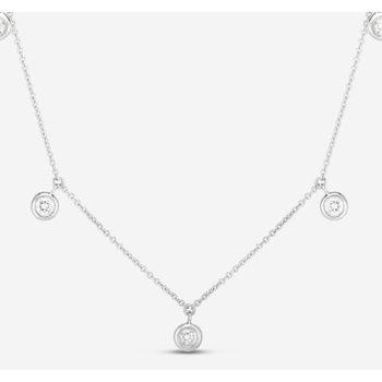 Three Diamond Drop Station Necklace