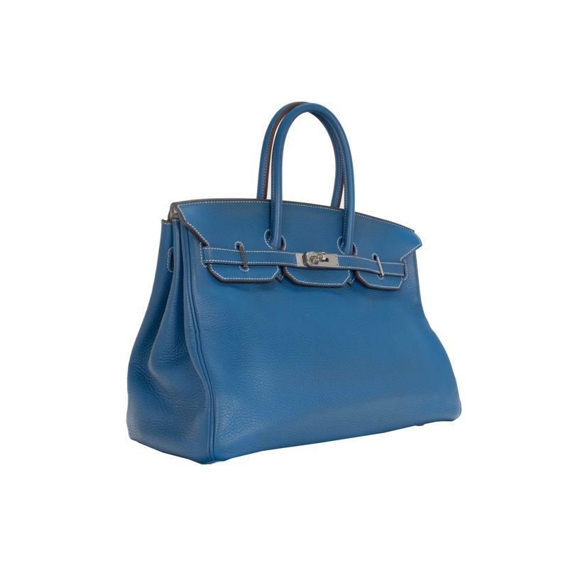 Hermes 35cm Blue Jean Birkin Bag