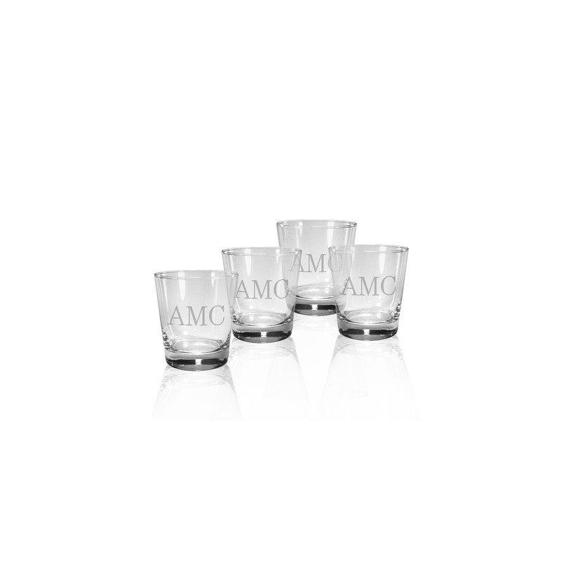 "Susquehanna Glass Co. DOF Glasses with ""B"""
