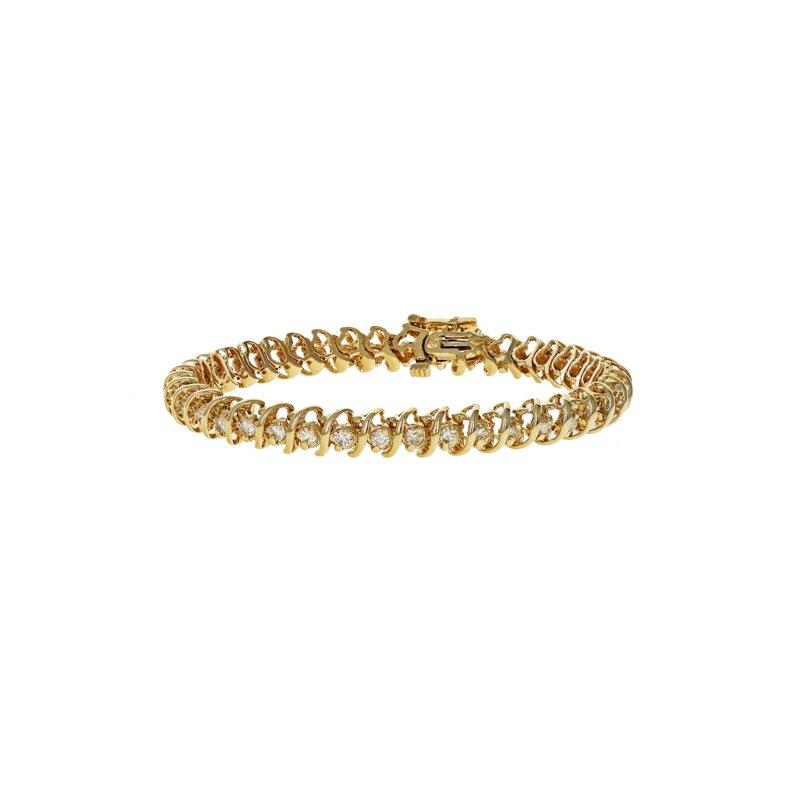 "Estate Radcliffe ""S"" Link Diamond Tennis Bracelet"