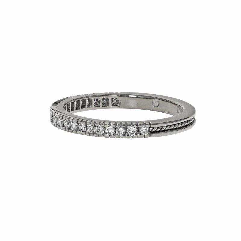 Estate Hidalgo Half Diamond Rope Ring