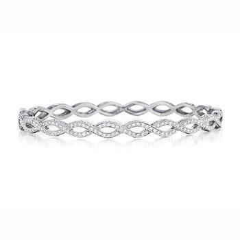 Classic Diamond Infinity Bangle Bracelet