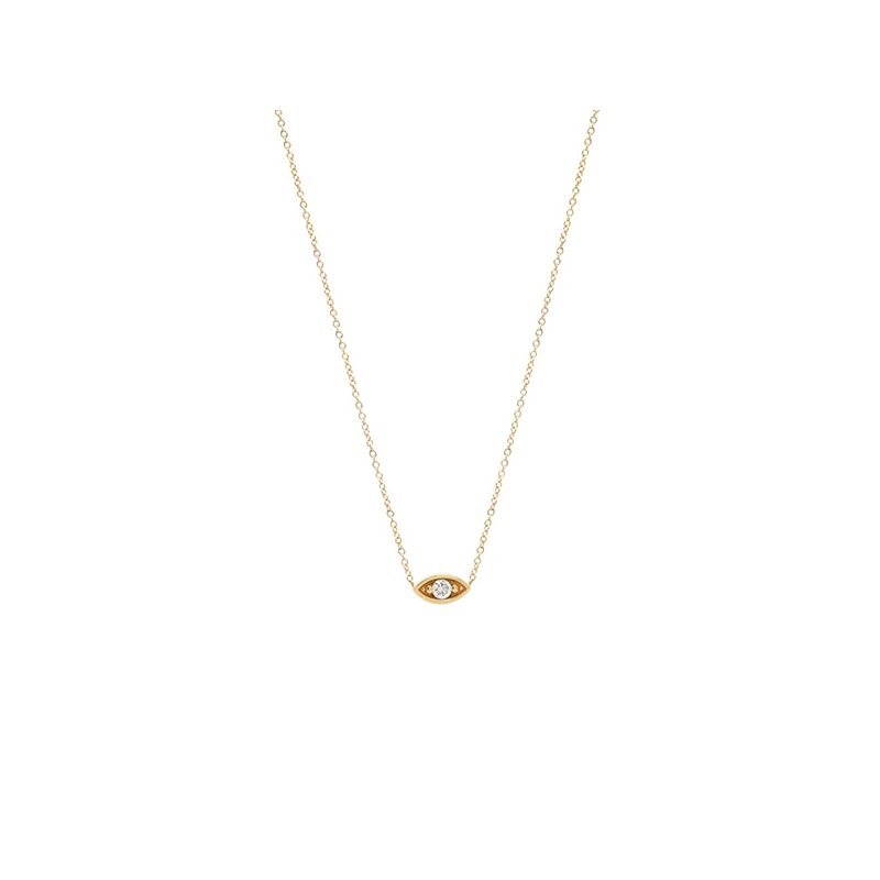 Zoe Chicco Diamond Eye Necklace