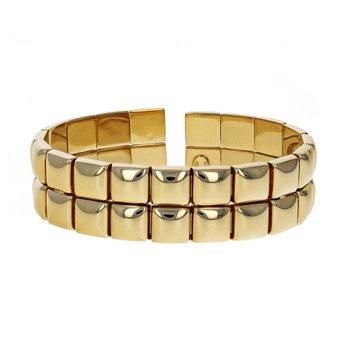 Double Row Stud Cuff Bracelet