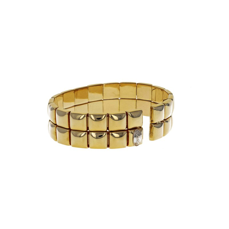 Estate Radcliffe Double Row Stud Cuff Bracelet
