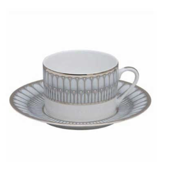 Arcades Grey & Platinum Tea Saucer