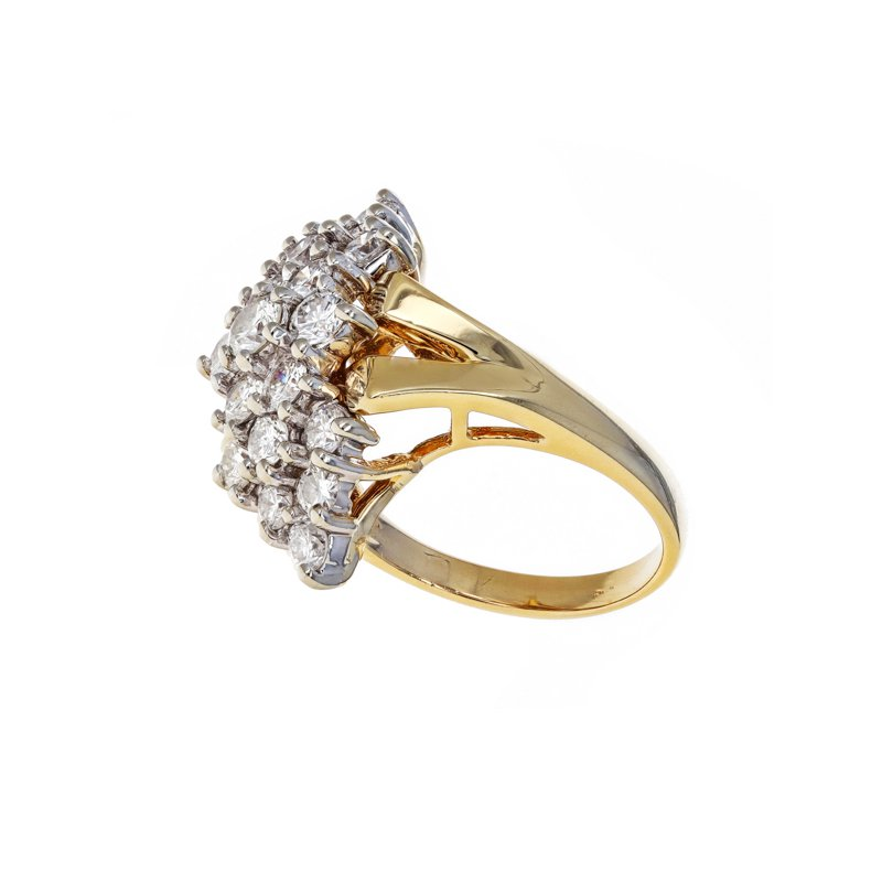 Estate Radcliffe Elongated Diamond Cluster Ring