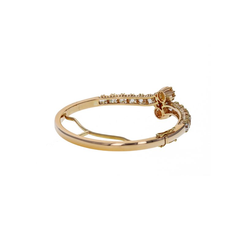 Estate Radcliffe Diamond Bypass Bracelet