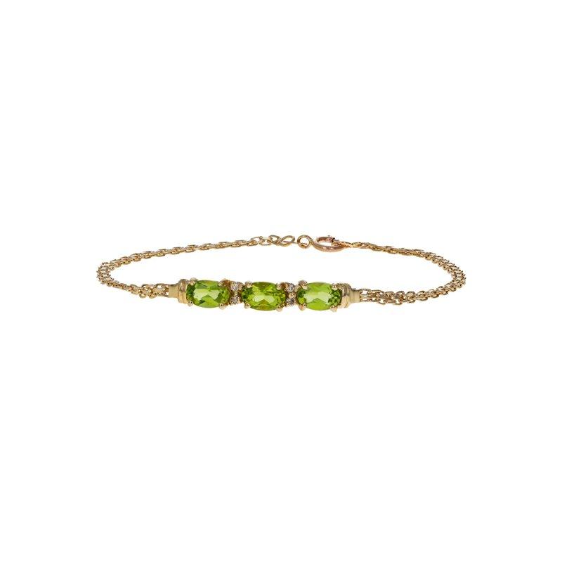 Estate Radcliffe Peridot & Diamond Chain Bracelet