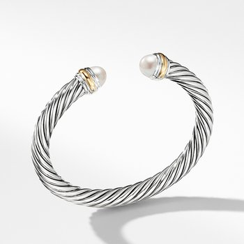Cable Classics Collection Bracelet with Pearl and 14K Gold