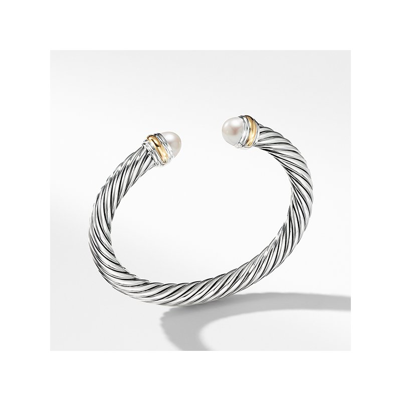 David Yurman Cable Classics Collection Bracelet with Pearl and 14K Gold
