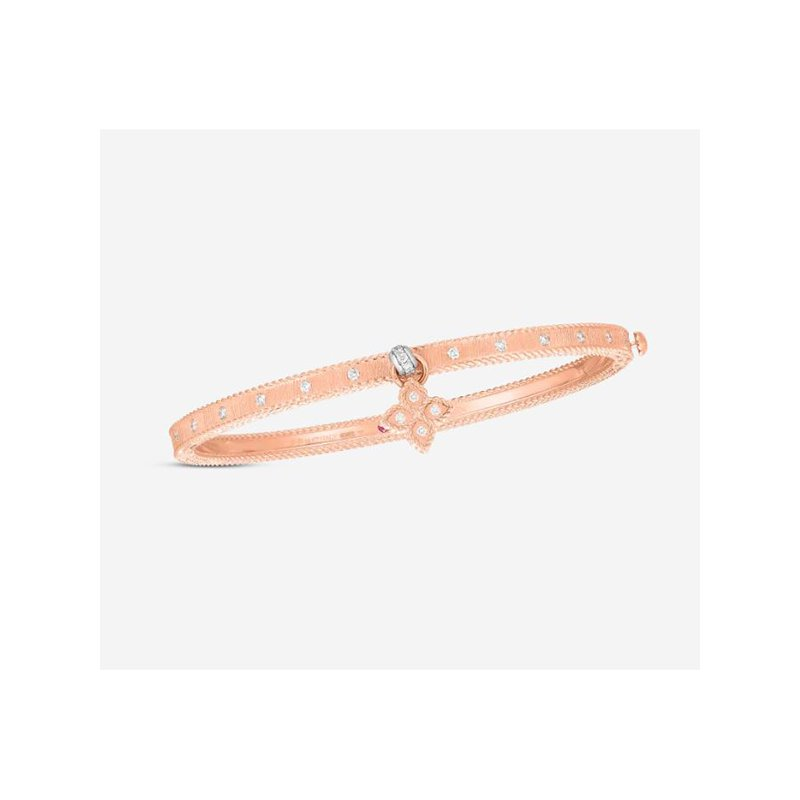 Roberto Coin Princess Flower Bangle with Flower Charm