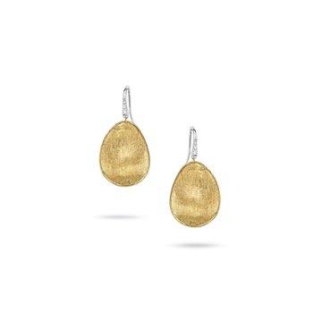 Lunaria Earrings with Diamonds