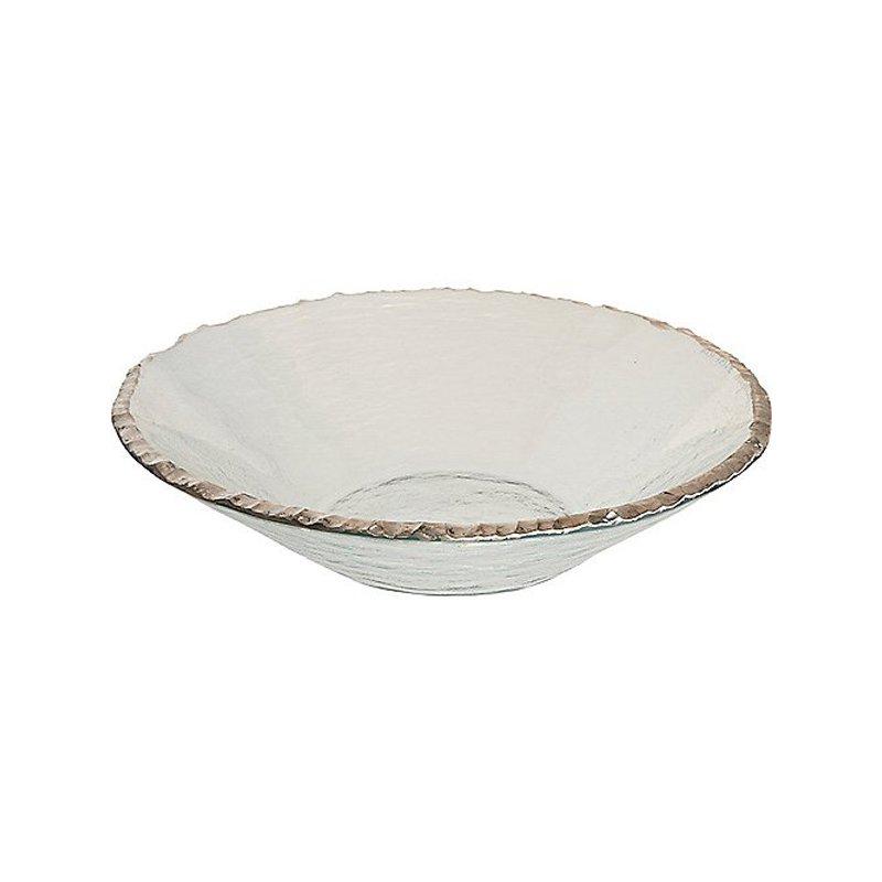 Annieglass Edgey Round Bowl-Platinum
