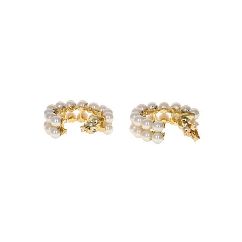 Estate Radcliffe Pearl Hoop Earrings