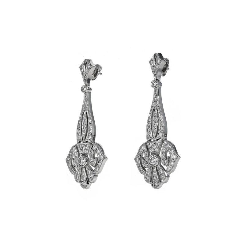 Estate Radcliffe Diamond Chandelier Earrings