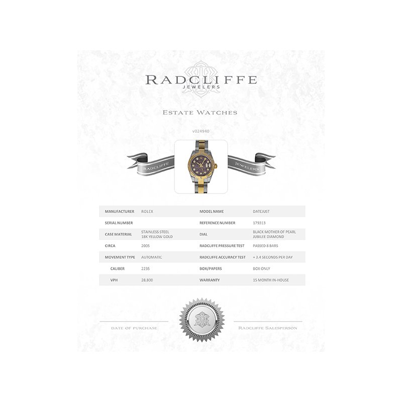 Pre-Owned Rolex Datejust (Ref. 179313)