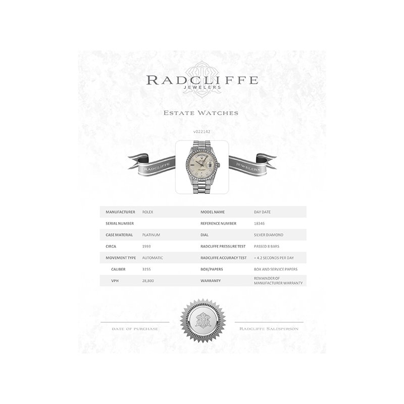 Pre-Owned Rolex Day-Date (Ref. 18346)