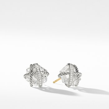 Cable Wrap Earrings with Crystal and Diamonds