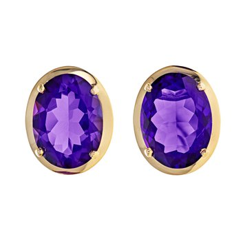 Amethyst Clip-To-Post Earrings