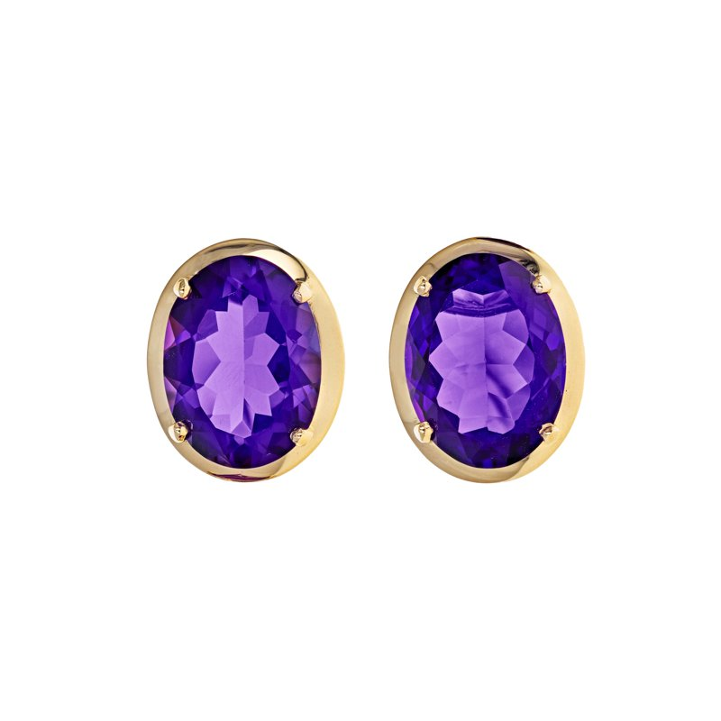 Estate Radcliffe Amethyst Clip-To-Post Earrings