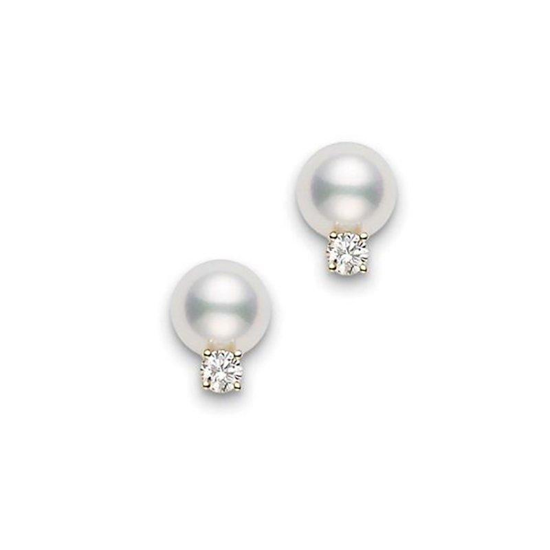 Mikimoto Pearl with Diamond Earrings