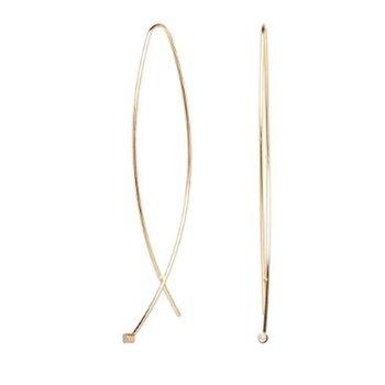 Long Diamond Wire Earrings