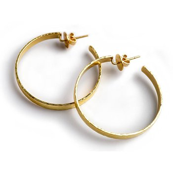 Flat Ribbon Hoop Earrings