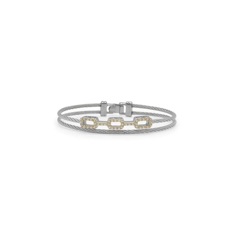 ALOR Grey Cable Petite Layered Links Bracelet