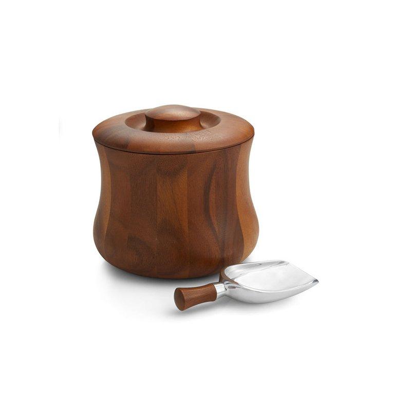 Nambe Nara Ice Bucket with Scoop