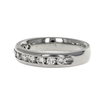 Half Diamond Channel Set Band