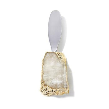 Kiva Spreader, Crystal + Gold