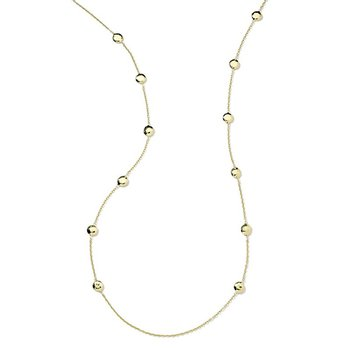Classico Long Hammered Pinball Layereing Necklace