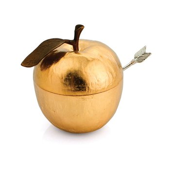 Apple Honey Pot with Spoon